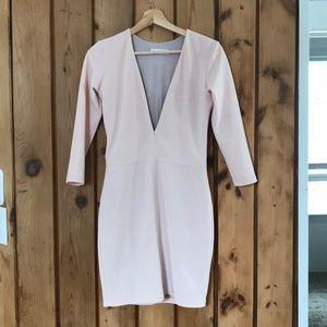 Bec & Bridge imperial deep v dress soft pink US 4